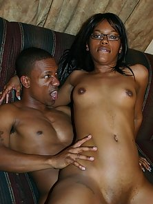 Pretty Asian Ebony Babe Strokahontas Posing Impishly