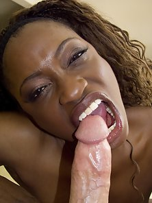 Hottest Ebony Doll Monique Takes on Giant Cock in Mouth