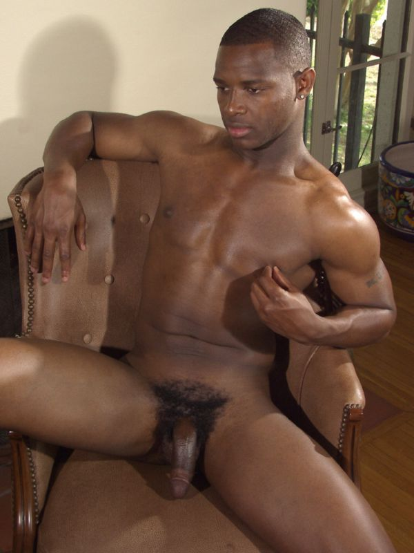 Sexy Black Twink Spreads His Muscular Ass Cheeks Wide -5351