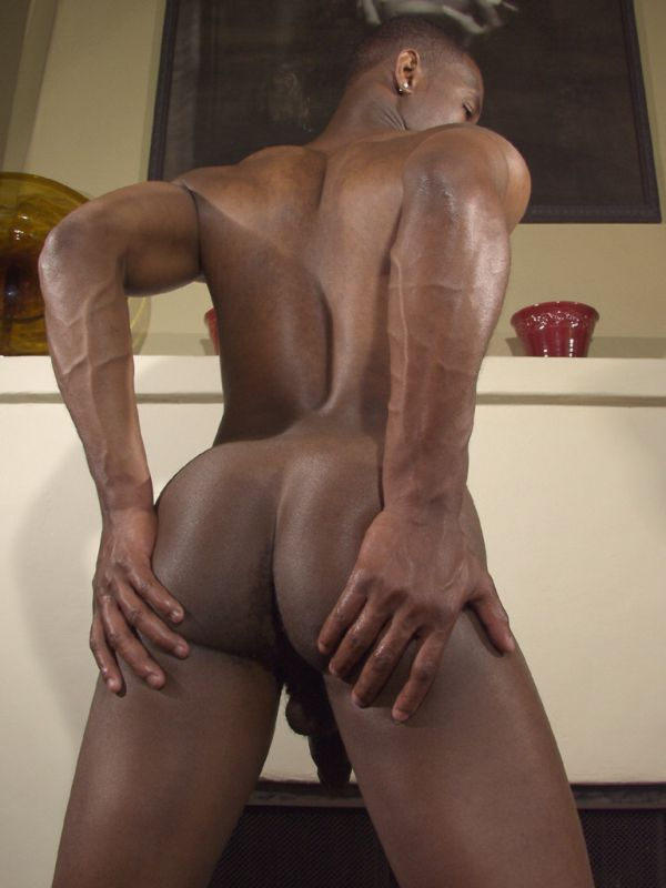 Naked black man ass