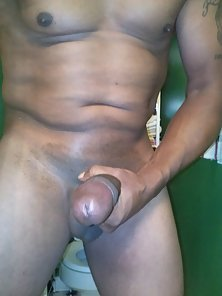 I am playing with my huge dick-muscled mother fucker
