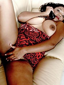 Big Tits Brunette Babe Christie Stimulating Her Black Slit While Phone Call