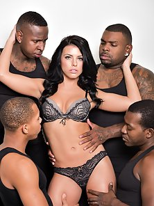 Cock Hungry Babe have Group Sex with Big Black Dudes