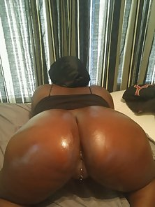 My round black ass is ready for hard cock