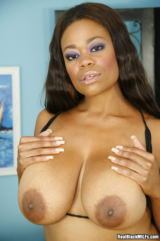 Busty Ebony Milf On Her Knees Sucking A Big Black Dick -3478