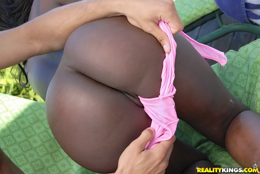 Super Hot Black Ebony Teen Fucked In The Pool In These Hot -9929