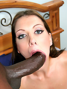 See Alicia Alghotti take on two giant black meat poles at the same time