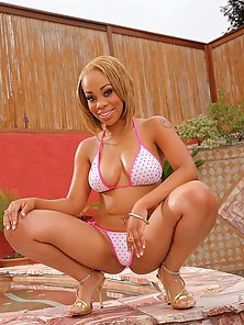Super hot ebony skin babe melorose was picked up at the baseball game for some hot pussy fucking and