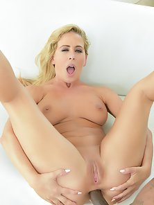 Busty Blonde Cherie DeVille Riding Rico Strong BBC