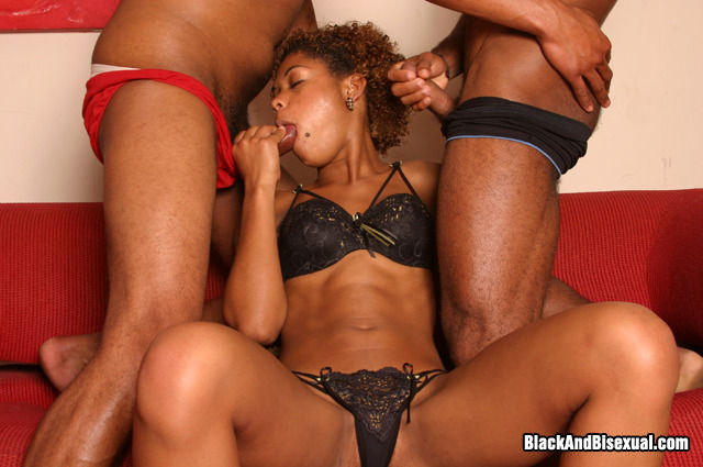 A Black Bisexual Threesome Gets Hot - Ghetto Tube-4745