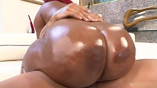 Nasty Black Whore with Ghetto Booty Rubbing and Sucking Fat Penis