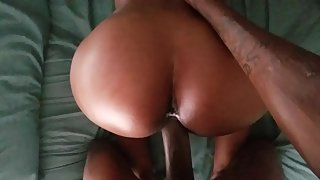 Nubian girl's big round looks great doggystyle while getting rammed by a hard cock