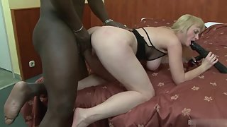 Big Ass Blonde Lady Toying and Banging Gaping Anus by Brutal BBC