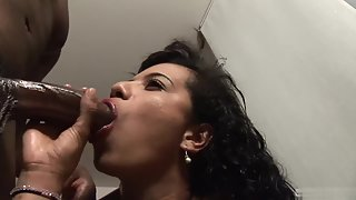 brunette bitch with stimulation blowing fertile huge cock