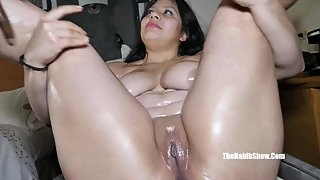 Passionate Fatty Lady Gets Seduced and Tits Sucked by Black Dude