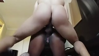 Bitch loves my cock filling her ass